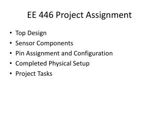 EE 446 Project Assignment