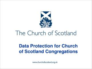Data Protection for Church of Scotland Congregations