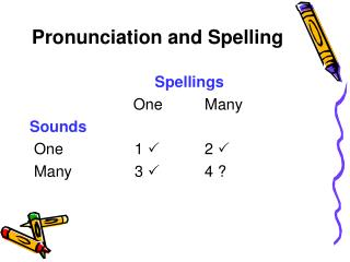 Pronunciation and Spelling