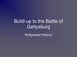 Build-up to the Battle of Gettysburg