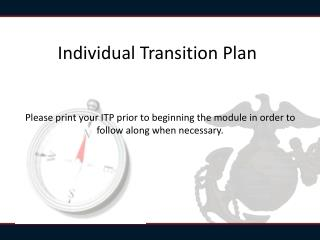 Individual Transition Plan