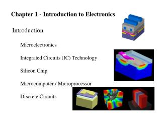Chapter 1 - Introduction to Electronics
