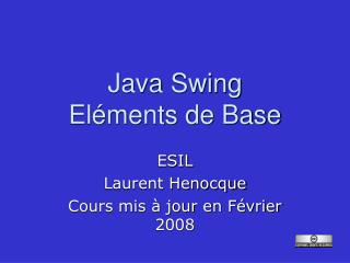 Java Swing Eléments de Base