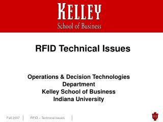 RFID Technical Issues
