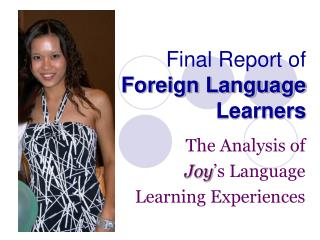 Final Report of  Foreign Language Learners