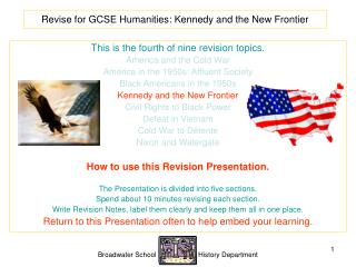 Revise for GCSE Humanities: Kennedy and the New Frontier