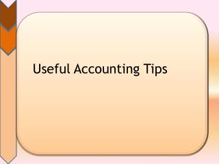 Useful Accounting Tips