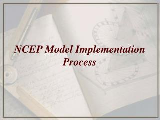 NCEP Model Implementation Process