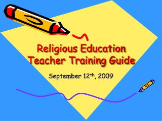Religious Education Teacher Training Guide