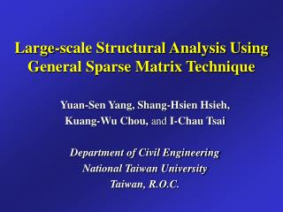 Large-scale Structural Analysis Using General Sparse Matrix Technique