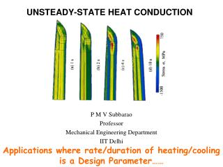 UNSTEADY-STATE HEAT CONDUCTION