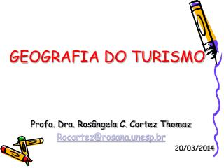 GEOGRAFIA DO TURISMO
