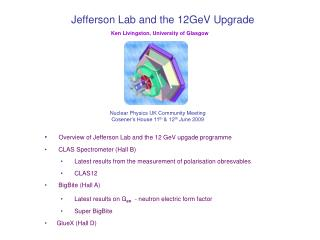 Jefferson Lab and the 12GeV Upgrade