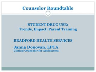 Counselor Roundtable