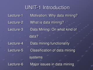 UNIT-1 Introduction