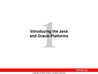 Introducing the Java and Oracle Platforms