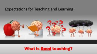 Expectations for Teaching and Learning