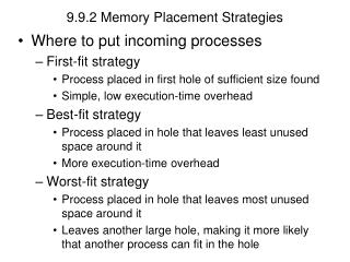 9.9.2 Memory Placement Strategies