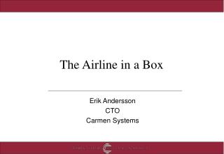 The Airline in a Box