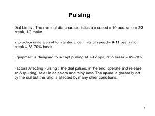 Pulsing