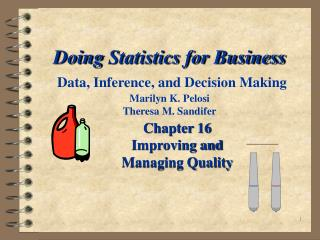 Chapter 16 Improving and Managing Quality