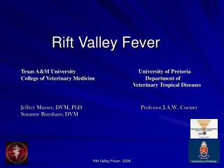 Rift Valley Fever