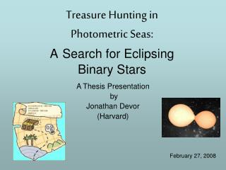 Treasure Hunting in  Photometric Seas: A Search for Eclipsing  Binary Stars
