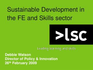 Sustainable Development in the FE and Skills sector