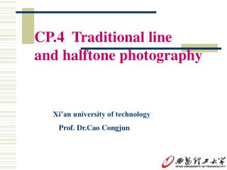 CP.4  Traditional line  and halftone photography