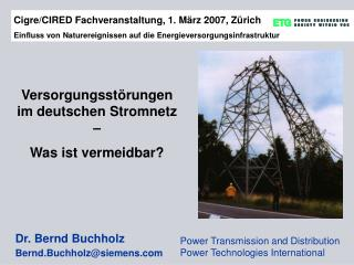 Power Transmission and Distribution Power Technologies International