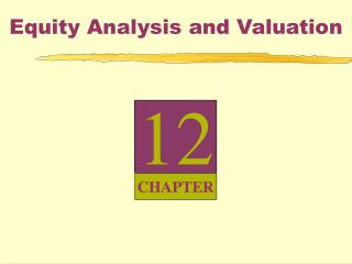 Equity Analysis and Valuation