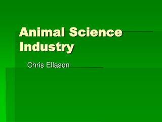 Animal Science Industry