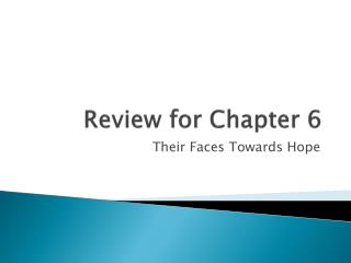 Review for Chapter 6