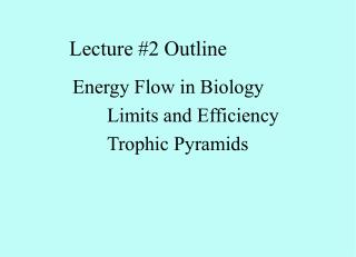 Lecture #2 Outline