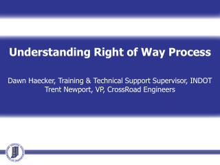 Understanding Right of Way Process