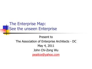 The Enterprise Map: See the unseen Enterprise