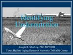 Identifying Undernutrition