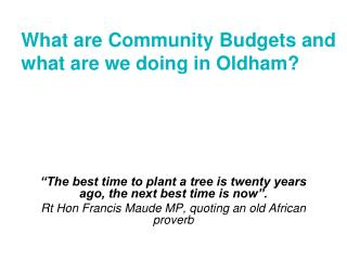 """The best time to plant a tree is twenty years ago, the next best time is now""."