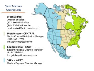 North American  Channel Sales