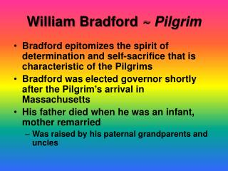 William Bradford  ~ Pilgrim