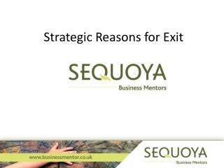 Strategic Reasons for Exit