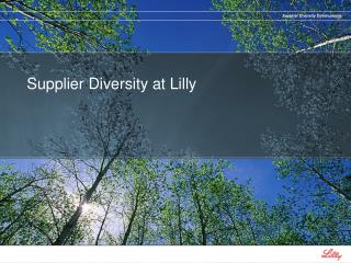 Supplier Diversity at Lilly