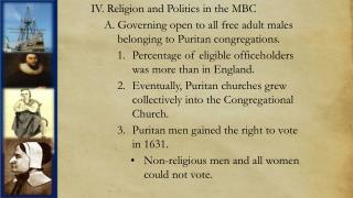 IV. Religion and Politics in the MBC