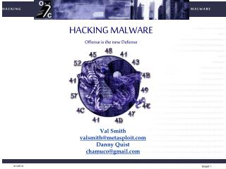 HACKING MALWARE Offense is the new Defense
