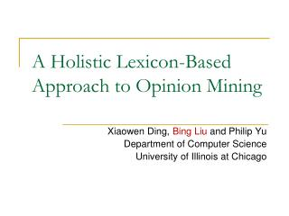 A Holistic Lexicon-Based Approach to Opinion Mining