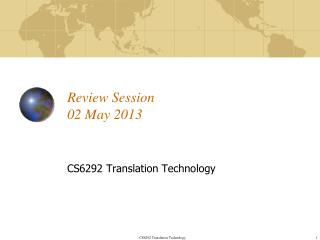 Review Session 02 May 2013