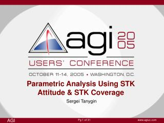 Parametric Analysis Using STK Attitude & STK Coverage