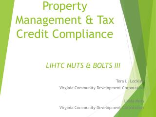 Property Management & Tax Credit Compliance