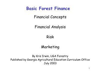 Basic Forest Finance