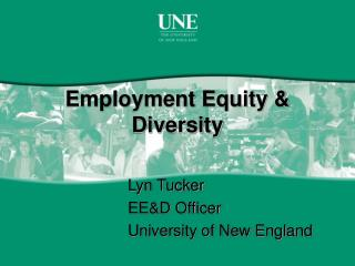 Employment Equity & Diversity